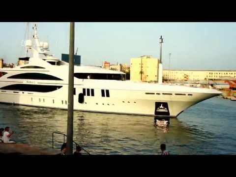 Large Luxury Yacht in Port of Barcelona
