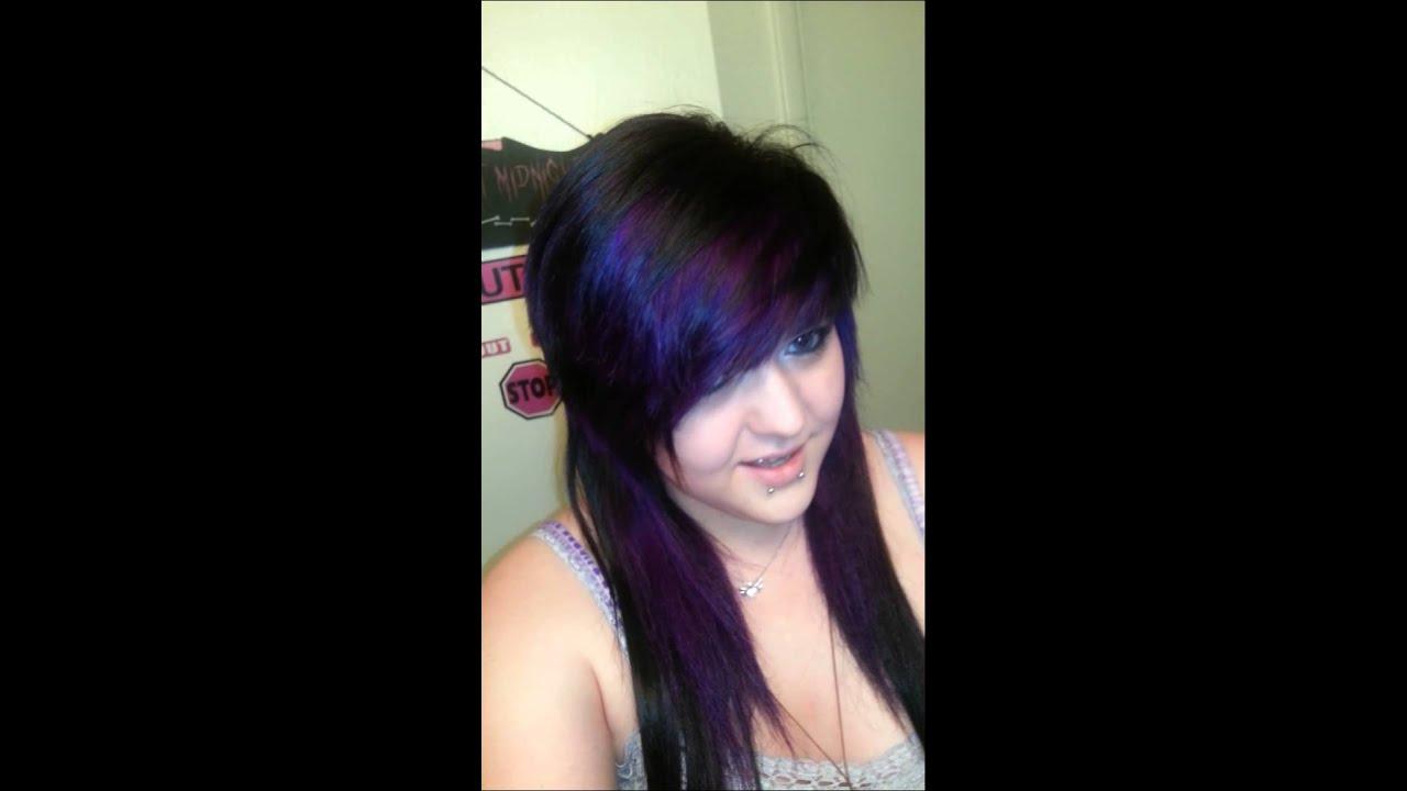 My Purple Hair Pravana Violet Youtube