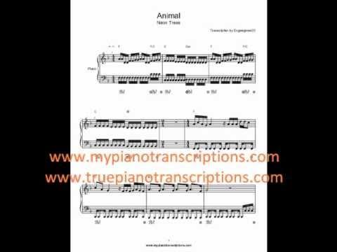 Animal Neon Trees Sheet Music