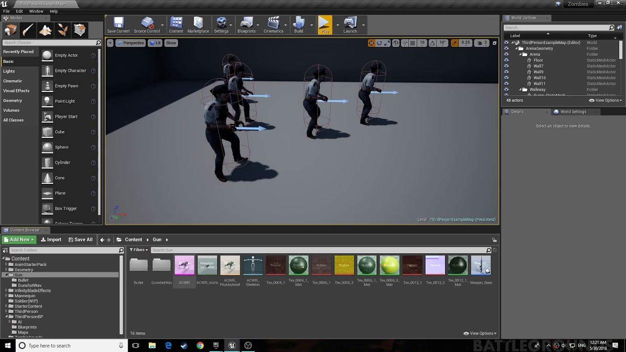 *OUTDATED* Unreal Engine 4 Rag doll physics tutorial death physics