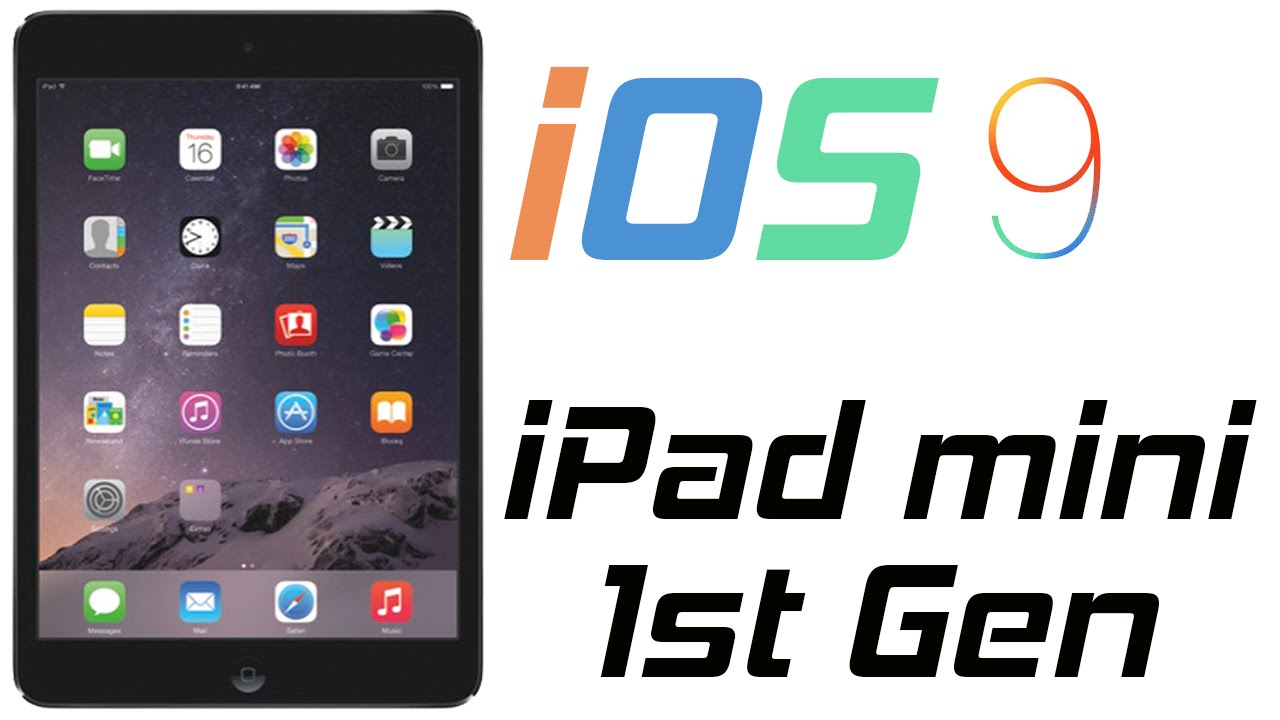 iOS 9 on iPad mini 1