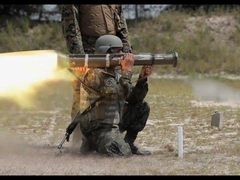 USMC M136 AT4 Anti-tank rockets and SMAW live fire