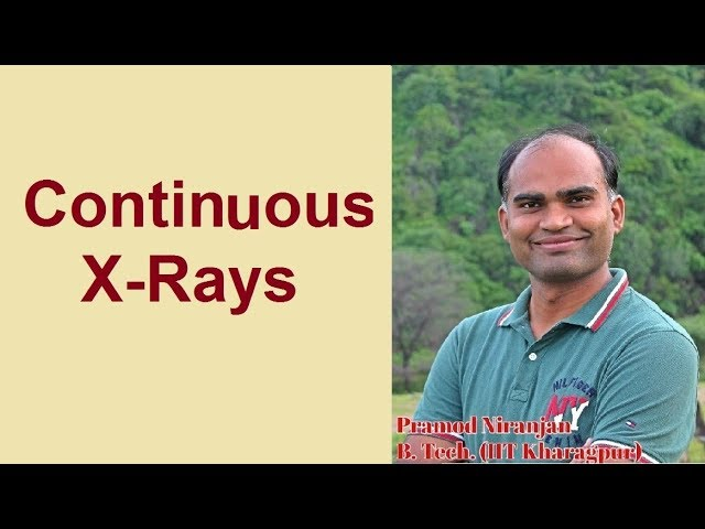 3. Physics | Class 12 | Modern Physics | Part 4 | Continuous X - Rays