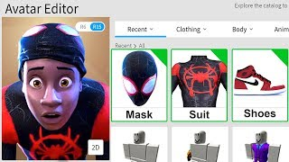 MAKING SPIDER MAN A ROBLOX ACCOUNT!!