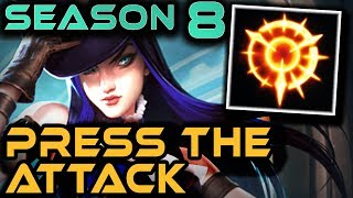 CAITLYN: PRESS THE ATTACK | Season 8 RUNES | Gameplay + Guide | Zoose