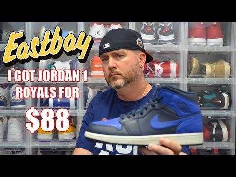 I GOT JORDAN 1 ROYALS ON EASTBAY FOR $88 !!! UNBOXING & REVIEW !!!