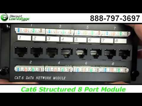 8 port cat6 patch panel rj45 residential youtube asfbconference2016 Image collections
