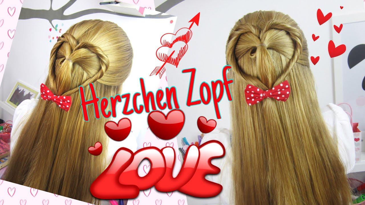 Valentinstag Zopf mit Herz Herzchen Frisur coole Mdchen