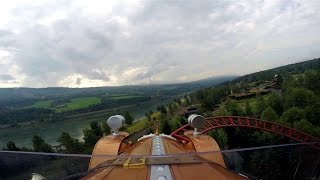 Il Tempo Extra Gigante front seat on-ride HD POV Hunderfossen Familiepark
