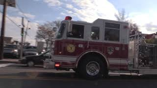 Totowa NJ Fire Department Engine 973 Riverview Responding on Union Blvd