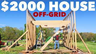 $2,000 HOUSE - SECOND FLOOR & CUSTOM STAIRCASE - Off-Grid Cabin - Ep. 3
