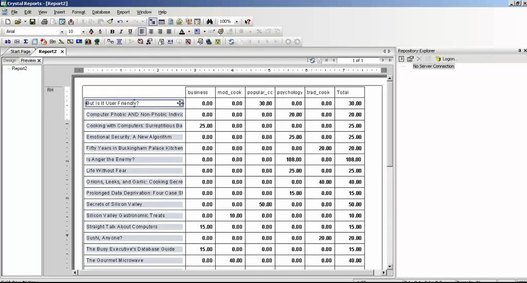 How To Pivot Table In Crystal Report | Wallseat co