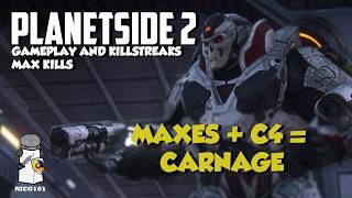 Planetside 2 Max Down, Gameplay, Killstreaks Part 2 They Just keep blowing
