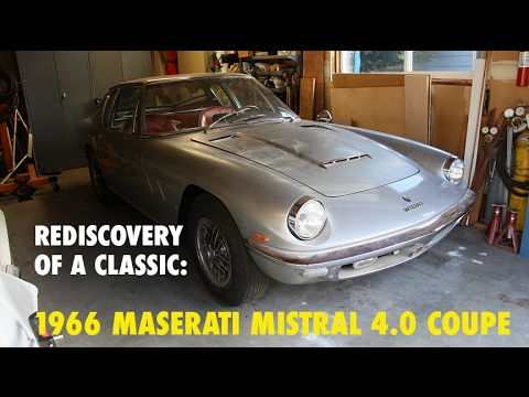 REDISCOVERY OF A CLASSIC: 1966 Maserati Mistral. Charvet Classic Cars