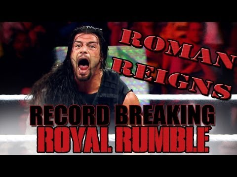 A look at Roman Reigns' record setting Royal Rumble performa