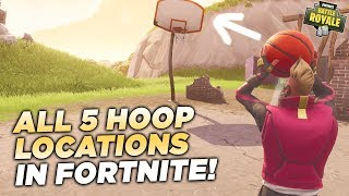 WHERE TO FIND ALL 5 DIFFERENT HOOPS TO SCORE A BASKET in Fortnite Battle Royale! (Week 2 Challenge)