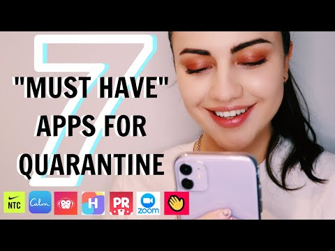 QUARANTINE APPS YOU NEED | What's On My Iphone, Productive And Fun Apps
