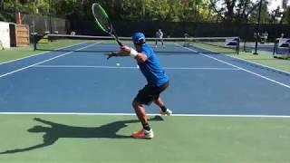 Tennis training: Coach And former top 100  ATP player Brian Dabul (Federer, Nadal, Djokovic)