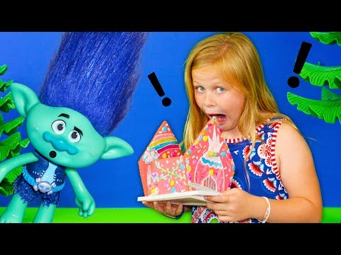 Thumbnail: ASSISTANT + TROLLS + SHIMMER & SHINE Assistant eats Trolls Candy Houe + Magic + Nick Jr + Dreamworks