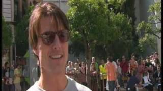 Interview with Tom Cruise for cycle stunt in Knight and Day