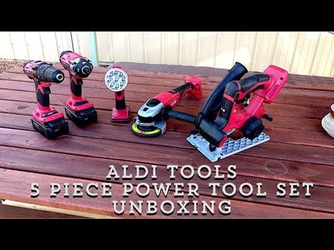 Aldi Tools / 5 Piece Power Tool Set Unboxing