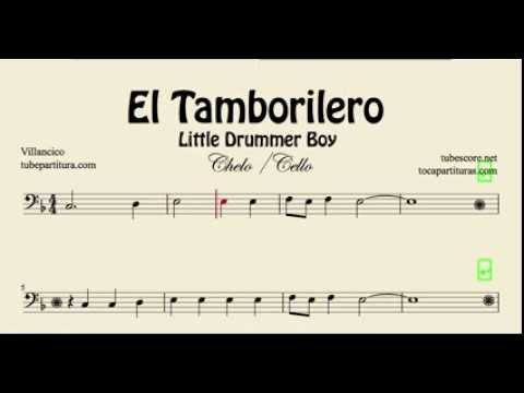 The Little Drummer Boy Sheet Music for Cello El Tamborilero
