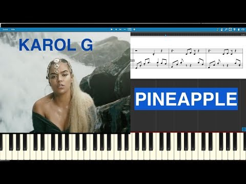 Karol G - Pineapple - Piano Cover - Midi Sheet Tutorial