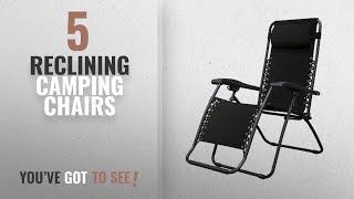 Top 10 Chairs Reclining Camping [2018]: Caravan Sports Infinity Zero Gravity Chair, Black