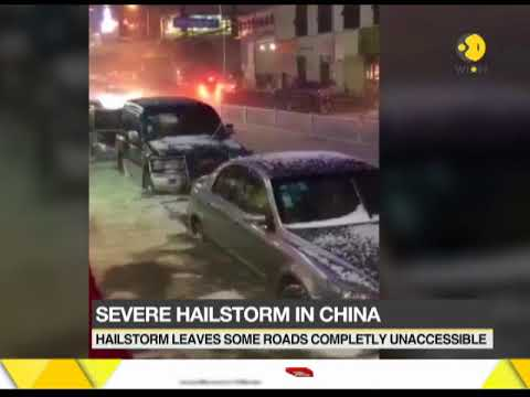 Severe hailstorm in China, roads completely inaccessible