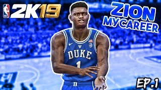 Zion Williamson MyCareer Ep.1 - College Debut Game | NBA 2K19 Zion Williamson