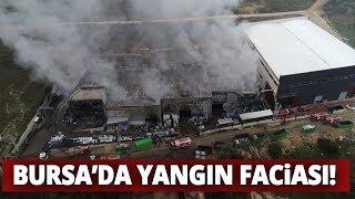 Bursa'da Fabrika Yangının Boyutu Gün Ağarınca Ortaya Çıktı