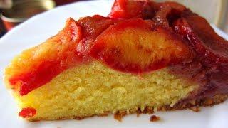 Сливовый пирог-перевертыш. Пирог со сливами