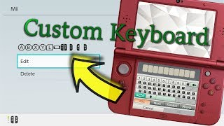 [3DS / Switch] Custom Keyboard W/ Switch Symbols