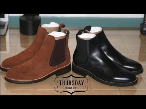 1ecc8682aadd6 Thursday Boots Chelsea Cognac Suede - Black Leather Boots - YouTube