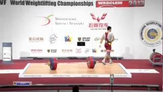 CHEN Lijun 2j 173 kg cat. 62 World Weightlifting Championship 2013