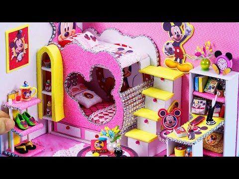 DIY Miniatures Dollhouse ~ Mickey Mouse Room Decor #43