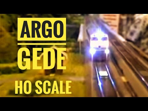 Argo Gede Train Model HO Travel Video