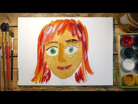 Как нарисовать МАМУ красками | Простые рисунки красками | Урок рисования для детей