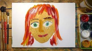 Как нарисовать МАМУ красками | Простые рисунки красками | Урок рисования для детей(РыбаКит - Папа Рисует: http://www.youtube.com/ribakit3 РыбаКит Live - Большой Папа Рисует: ..., 2016-04-25T11:10:23.000Z)