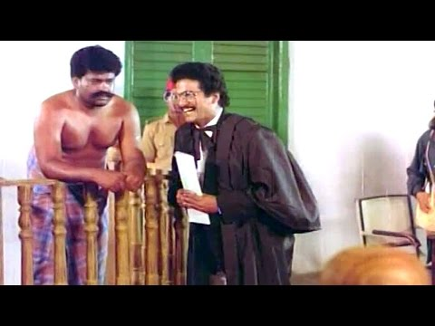 Telugu Movie Comedy Scenes - Client Mahankali Court Scene - Rajendra Prasad, Kinnera