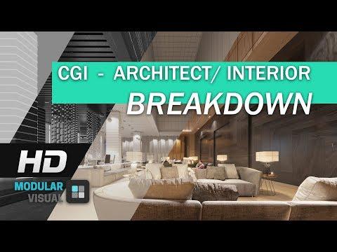 modular visual : CGI break down show reel present