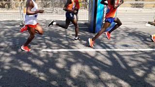 London Marathon Leaders 2018 Slow Motion At 14 Miles