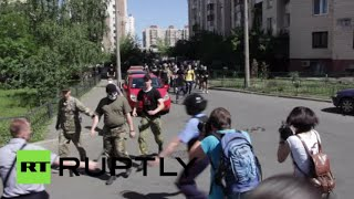 Video Ukraine radicals clash with police, LGBT activists at gay pride rally in Kiev download MP3, 3GP, MP4, WEBM, AVI, FLV Agustus 2018