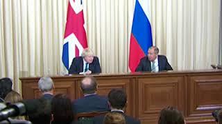 Лавров и Джонсон о вмешательстве России в референдум по Brexit