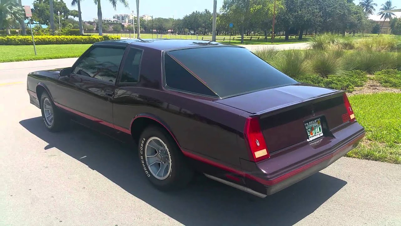 1987 monte carlo aero ss with t tops for sale - YouTube