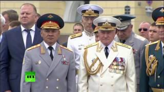 Владимир Путин поздравил моряков с Днем ВМФ