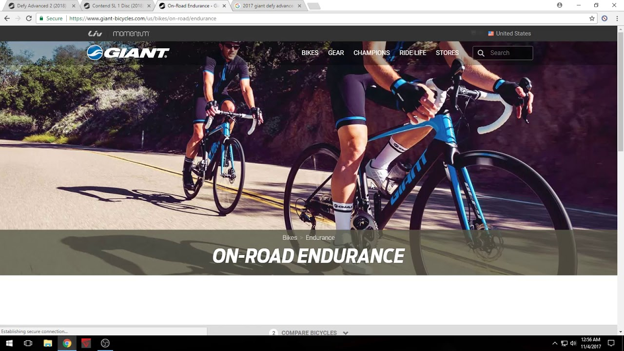 27792664af7 2018 Giant Defy Advanced vs 2018 Giant Contend SL 1 Disc - YouTube