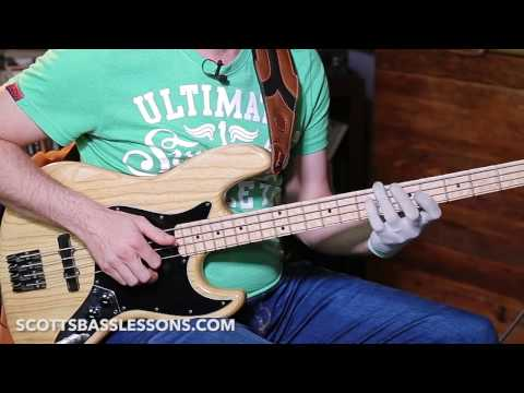 "Probably the Best Slap Bass Riff EVER! ""HAIR"" by Larry Graham /// Scott's Bass Lessons"
