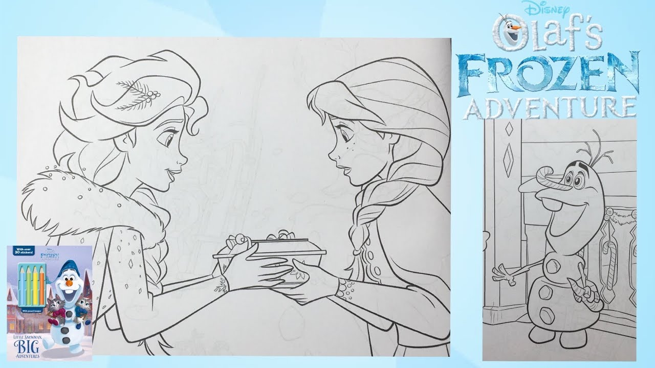 Olaf's Frozen Adventure Coloring Book Disney Elsa and Anna