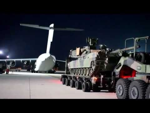 Early Load Up of M1A2 at Ramstein